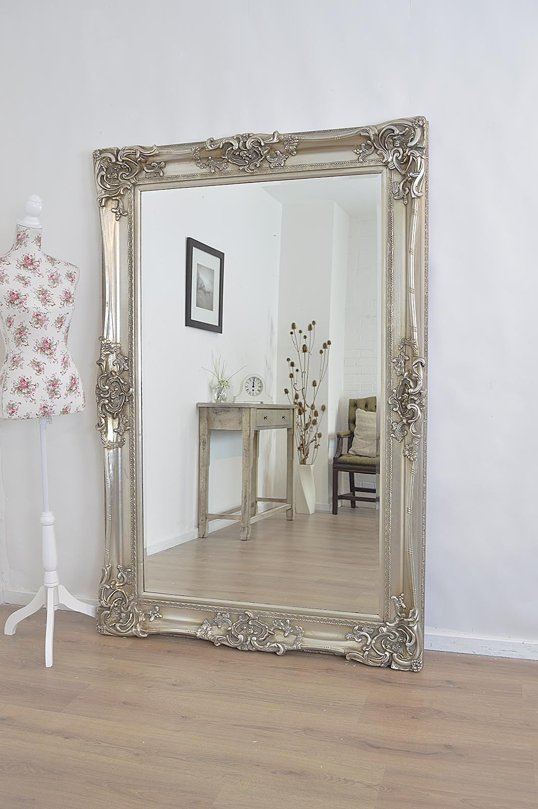 Large Full Length Wall Mirrors Regarding Recent Antique Full Length Wall Mirrors Wood Framed Mirror Clip Art (View 15 of 20)