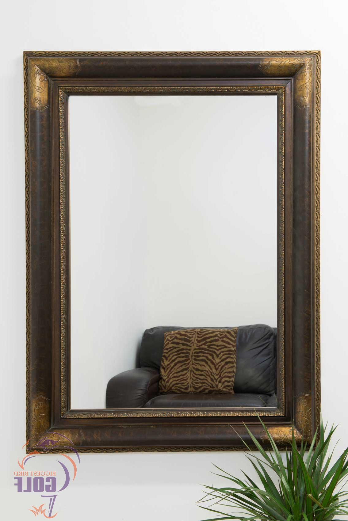 Large Gold And Bronze Ornate Big Shabby Chic Wall Mirror 3Ft10 X 2Ft10  115Cm X 8 Within Latest Shabby Chic Wall Mirrors (View 7 of 20)