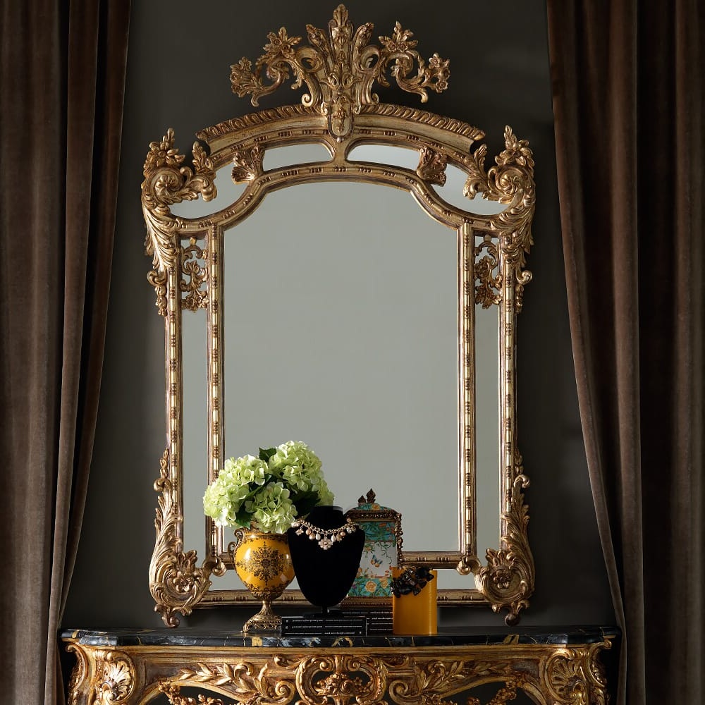 Large Gold Wall Mirrors Within Well Known Large Gold Rococo Wall Mirror (Gallery 14 of 20)