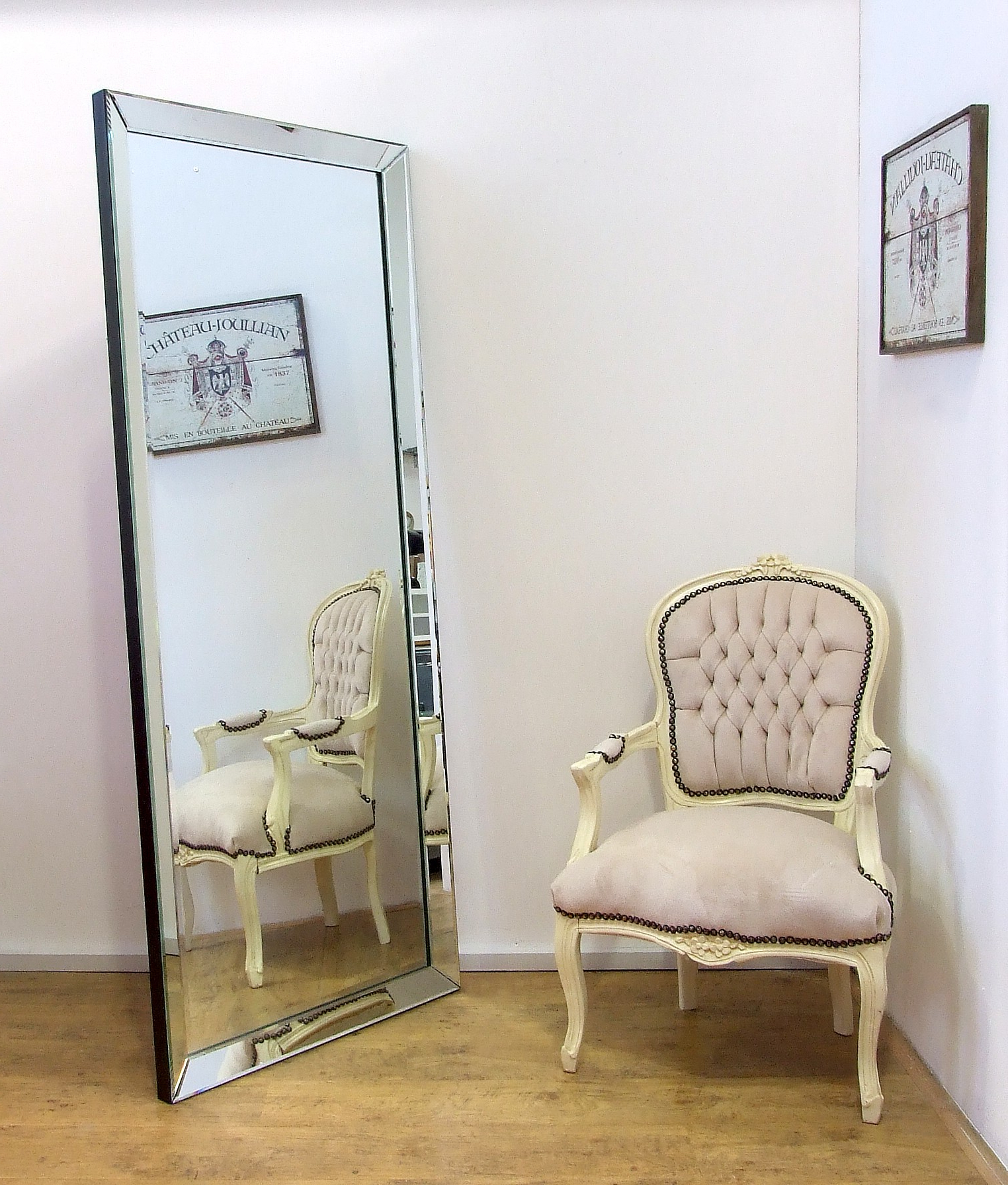 Large Leaning Wall Mirrors Within Most Current Luna Modern Full Length Xlarge Frameless Wall Leaner Floor Mirror  (View 8 of 20)