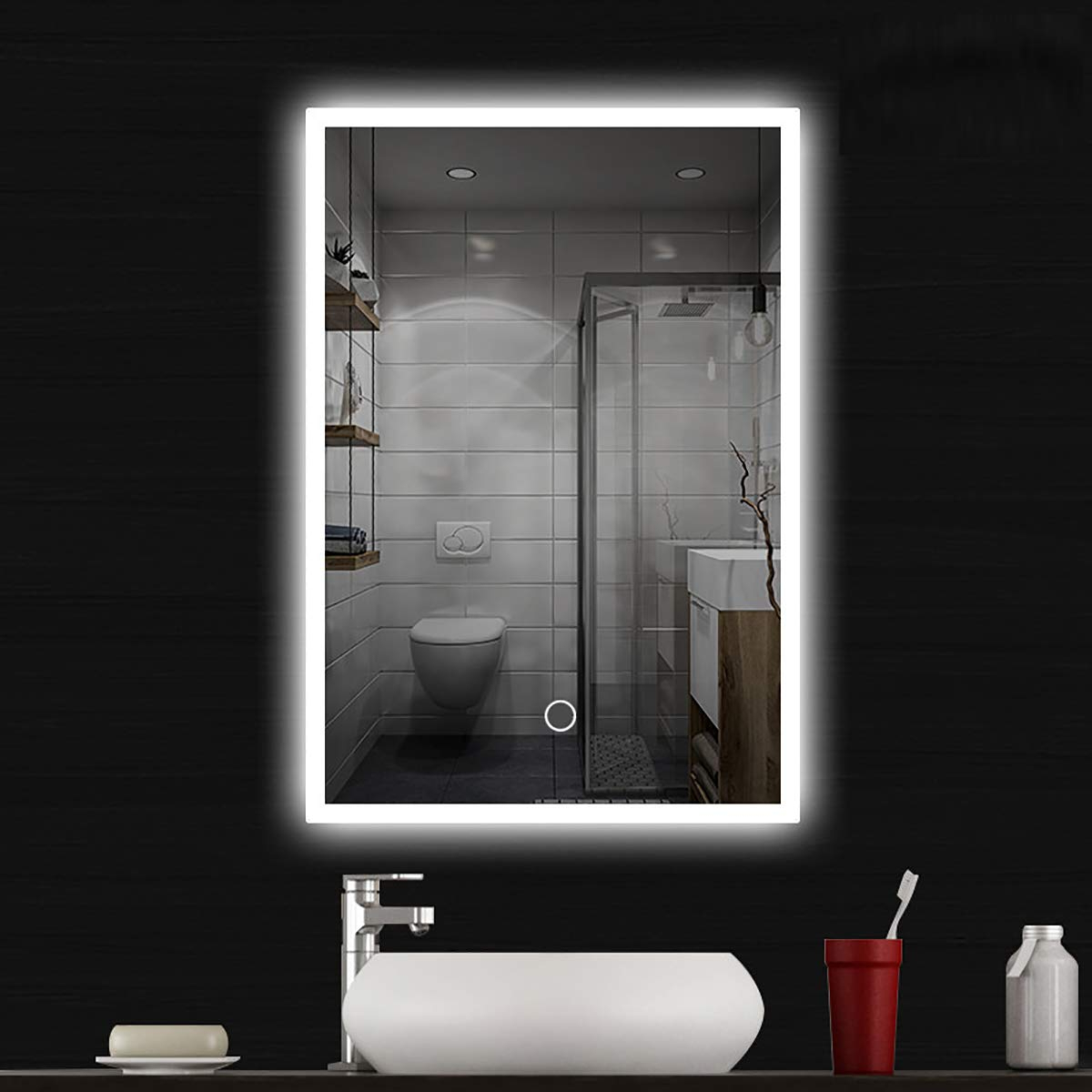 Large Lighted Bathroom Wall Mirrors For Well Liked Amazon: Syhsdzg Large 28 Inch X 20 Inch Led Bathroom Mirror (Gallery 3 of 20)