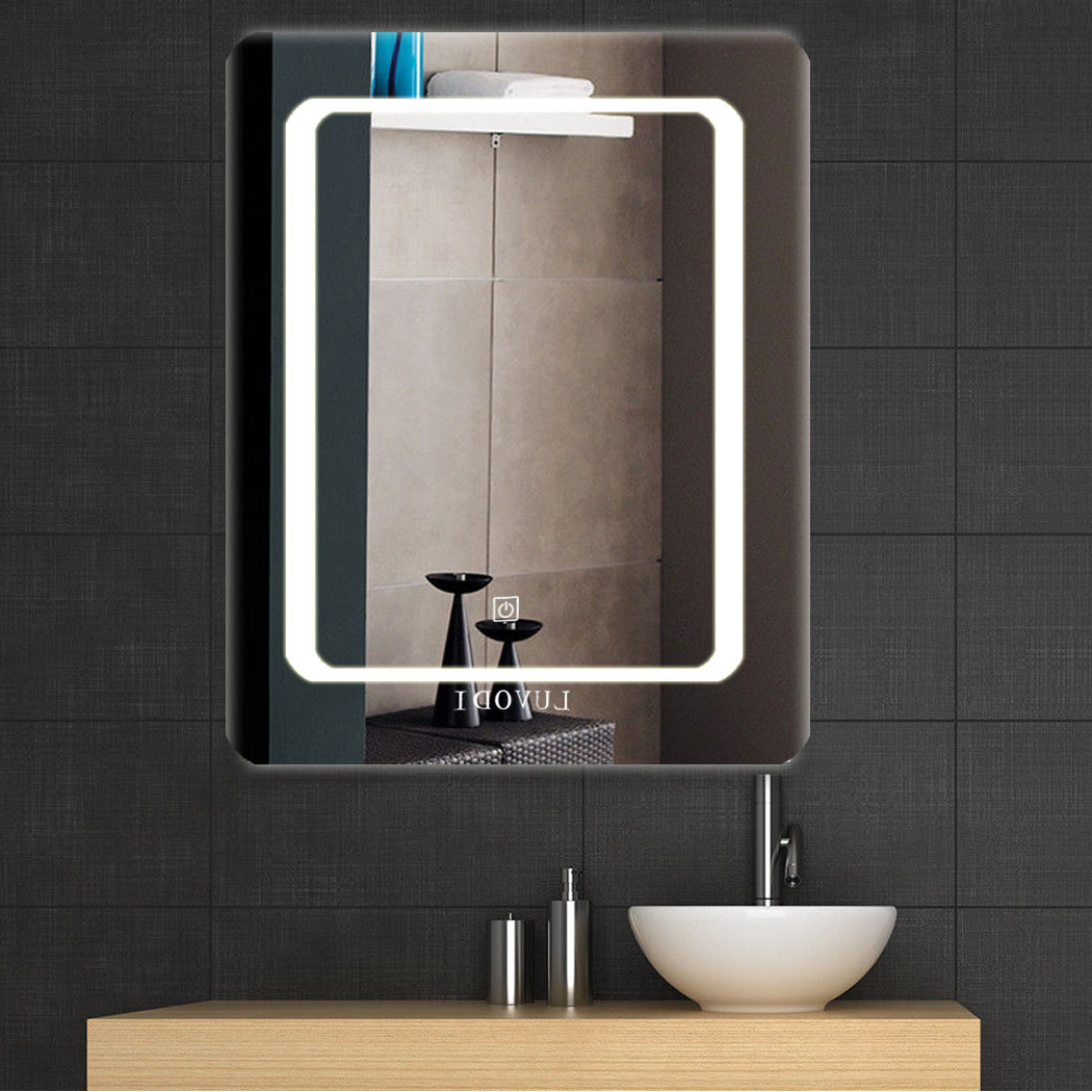 Large Lighted Bathroom Wall Mirrors In 2020 Details About Large Led Touch Lighted Bathroom Vanity Mirror / Wall Mirror For Shaving Makeup (View 10 of 20)