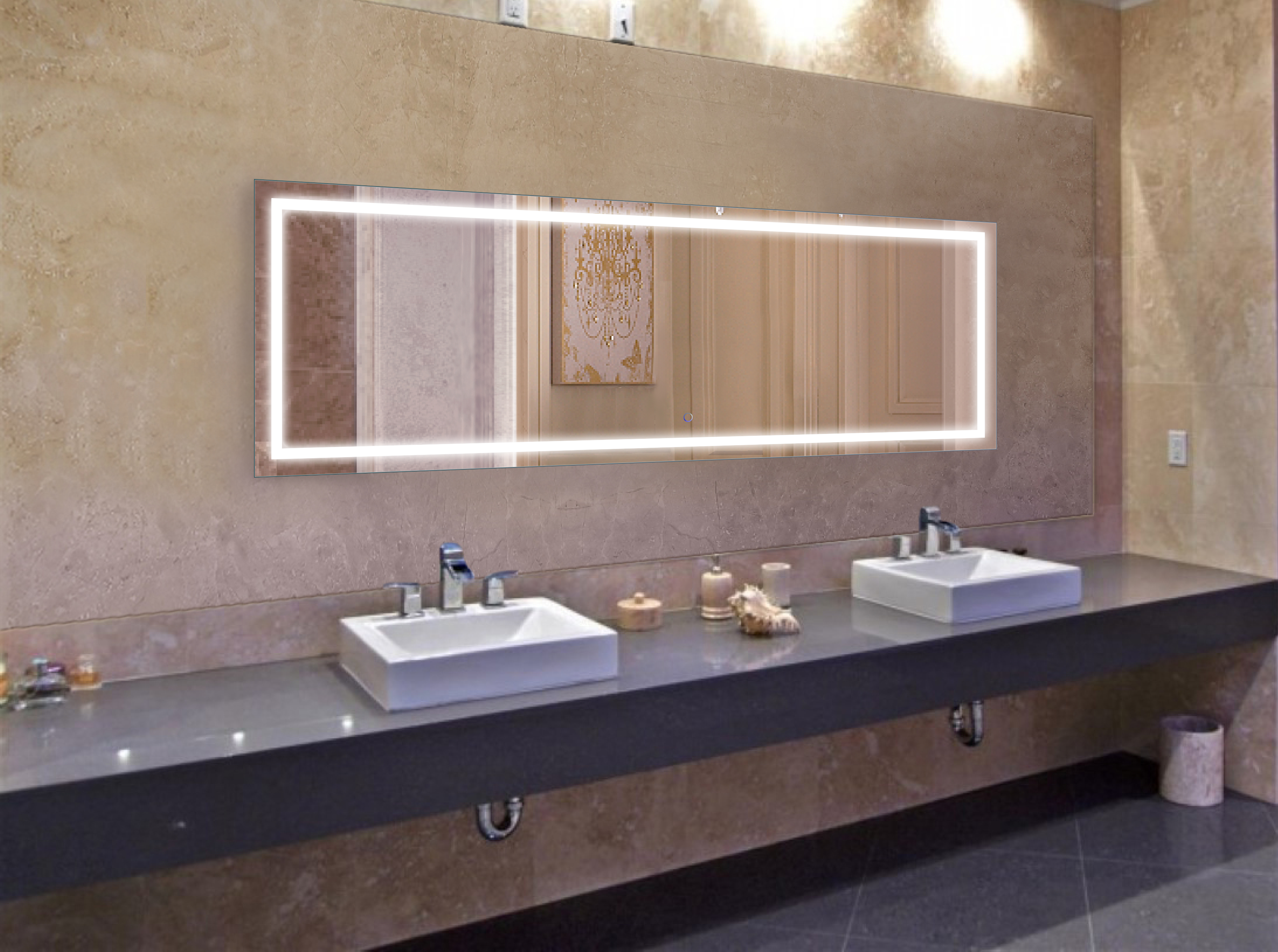 Large Lighted Bathroom Wall Mirrors With Regard To Best And Newest Brushed Gold Laundry Bin & Hamper (View 13 of 20)