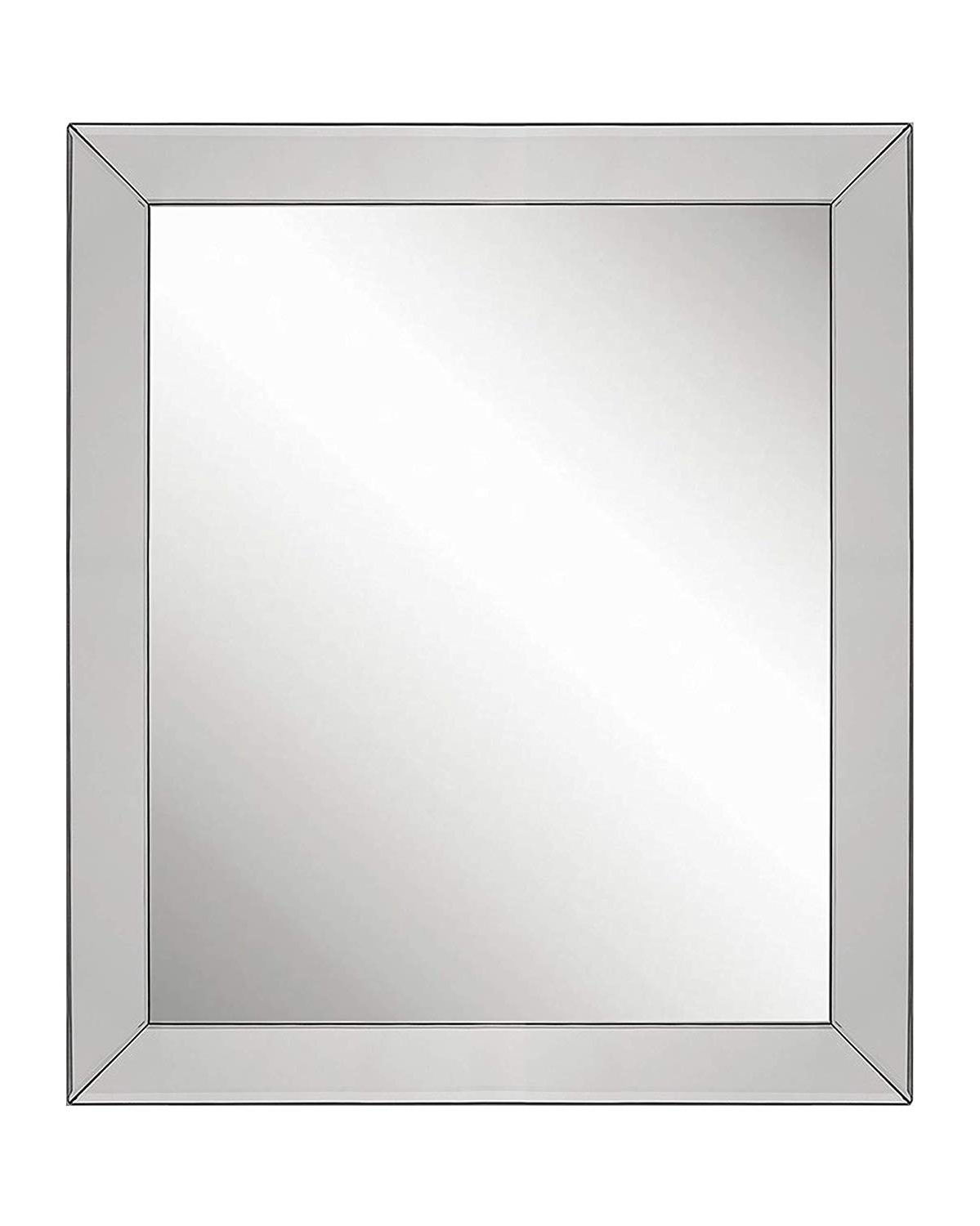 Large Luxury Elegant Framed Wall Mounted Mirror With Angled Beveled Mirror  Frame, Vanity, Entryway, Bedroom, Or Bathroom Mirror, Rectangle Hangs Inside Current Large Elegant Wall Mirrors (View 9 of 20)