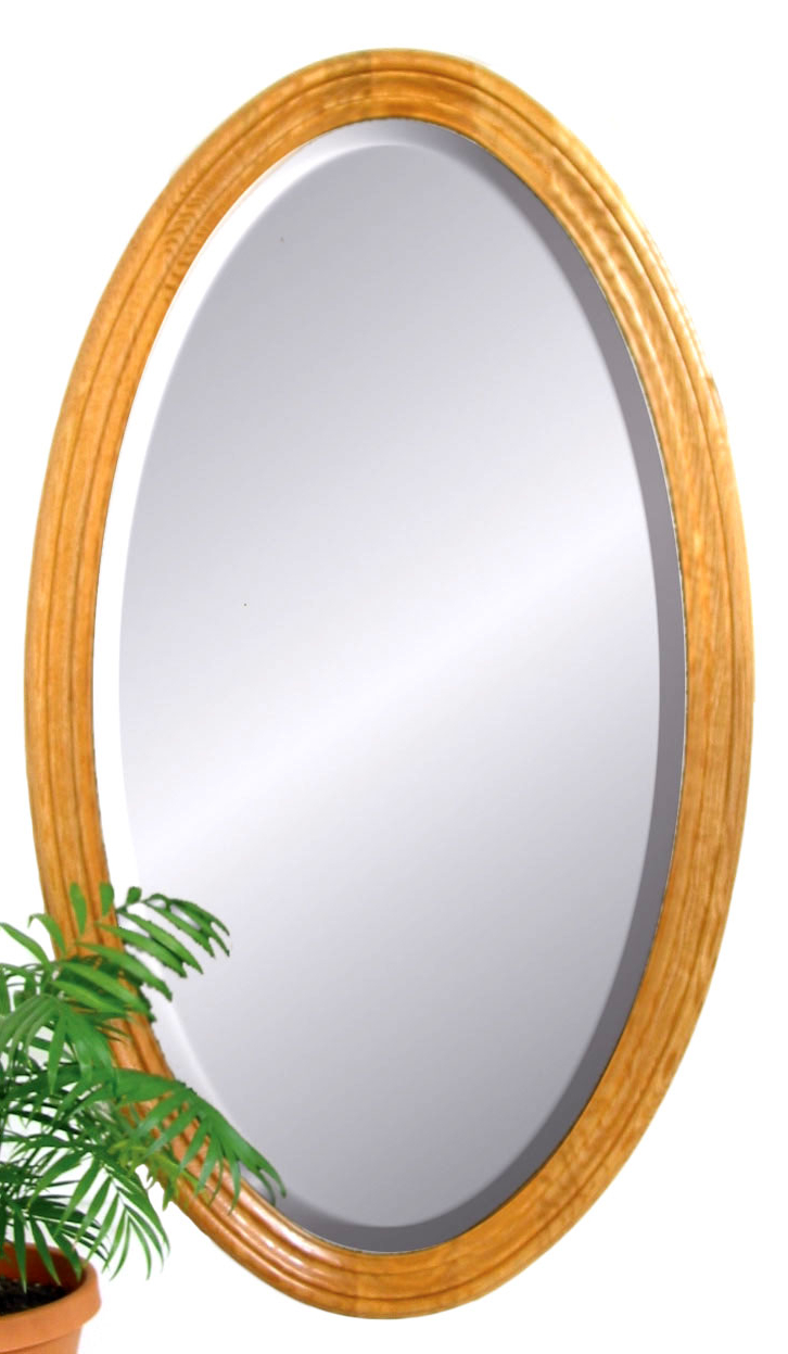 "Large Oval Wall Mirror – 2.25"" Frame For Current Large Oval Wall Mirrors (Gallery 13 of 20)"