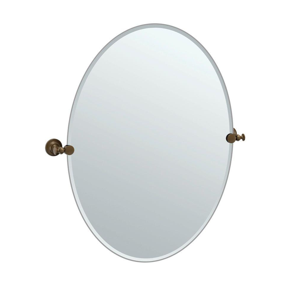 Large Oval Wall Mirrors Pertaining To 2020 Gatco Tavern 32 In. L X 29 In (View 9 of 20)