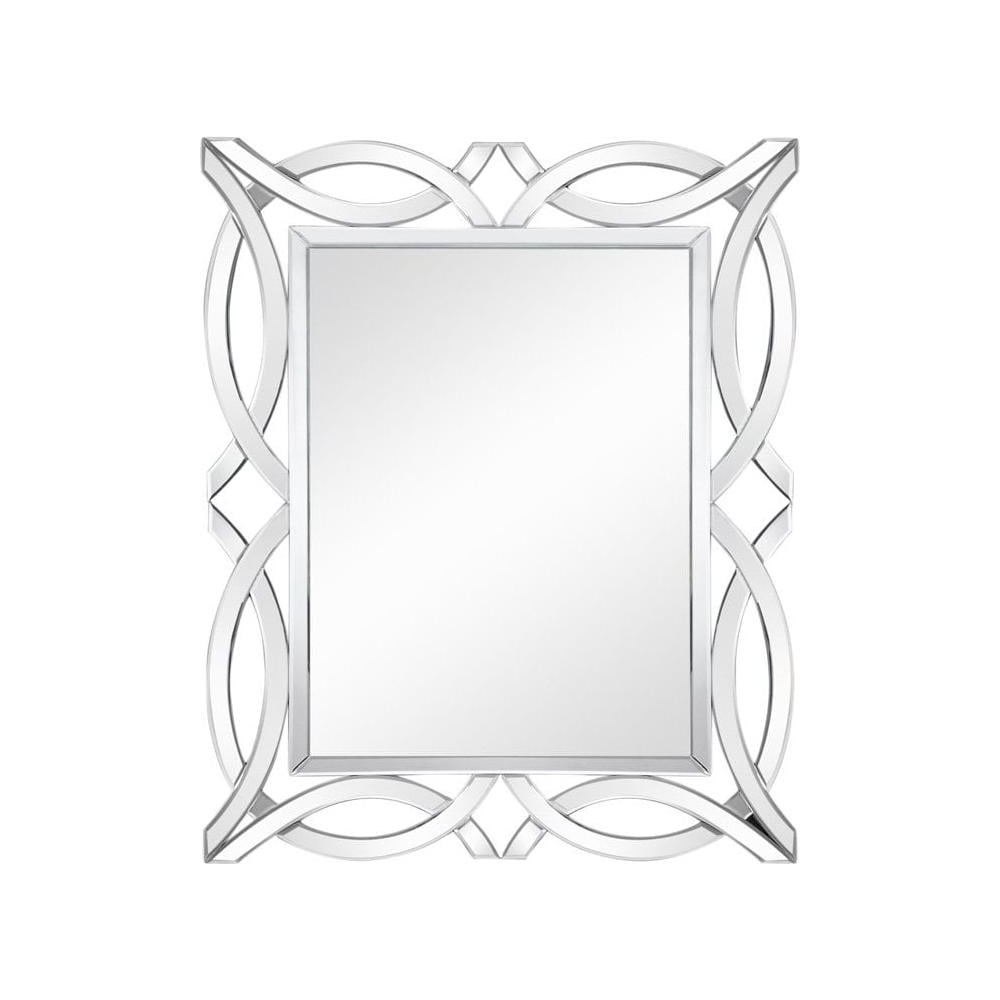 Large Rectangular Wall Mirrors With Most Recent Rectangular Cross Over Ornate Large Wall Mirror (View 6 of 20)
