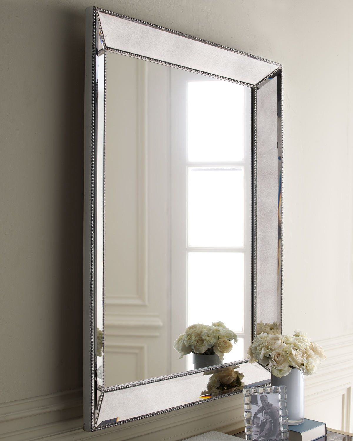 Large Silver Framed Wall Mirror Pertaining To Most Recently Released Silver Large Wall Mirrors : Home Decorations Insight – Large (Gallery 4 of 20)