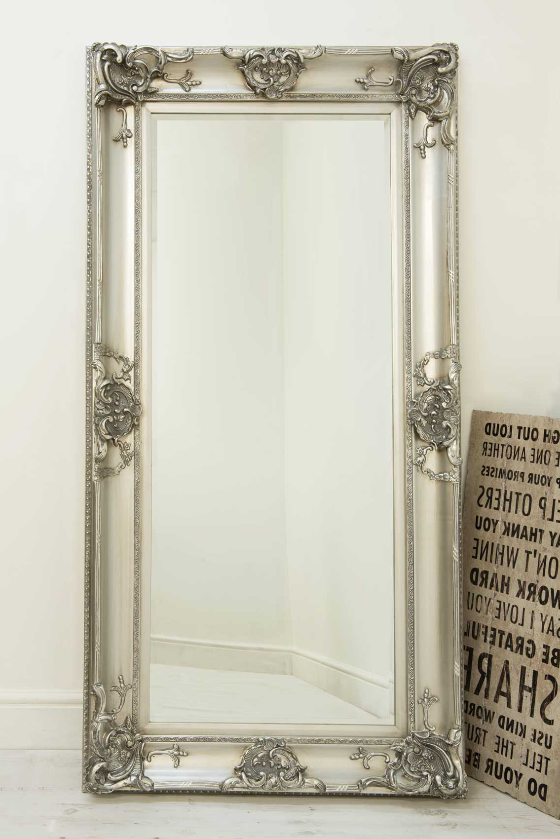 Featured Photo of Large Silver Framed Wall Mirror