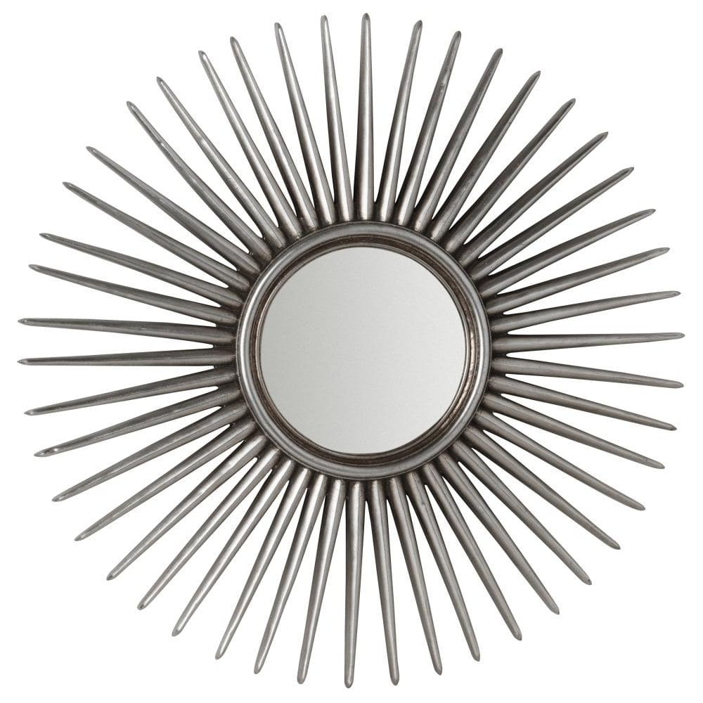 Large Silver Sun Burst Wall Mirror Regarding Current Sun Wall Mirrors (View 4 of 20)
