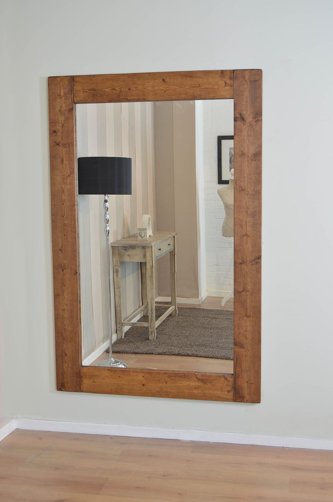 Large Solid Wood Wall Mirror 5Ft10 X 3Ft10 (178Cm X 117Cm For Well Known Large Wooden Wall Mirrors (Gallery 9 of 20)