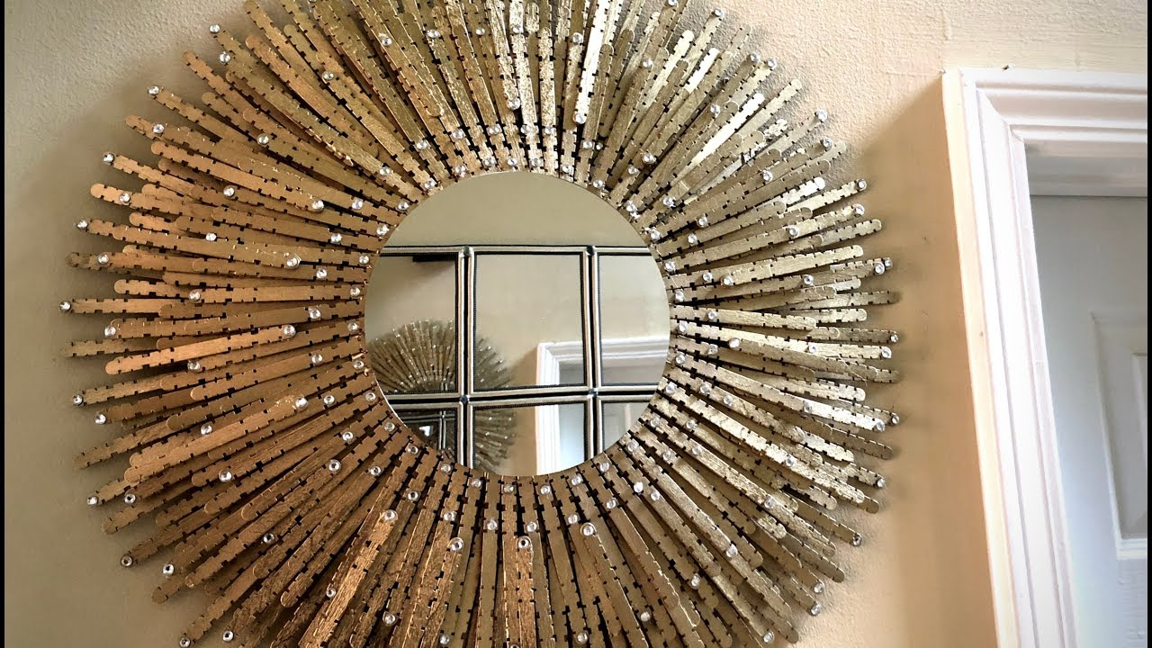Large Sunburst Wall Mirrors Inside Most Up To Date Dollar Tree Diy – 💕 Gold Sunburst Wall Mirror 💕 (View 11 of 20)