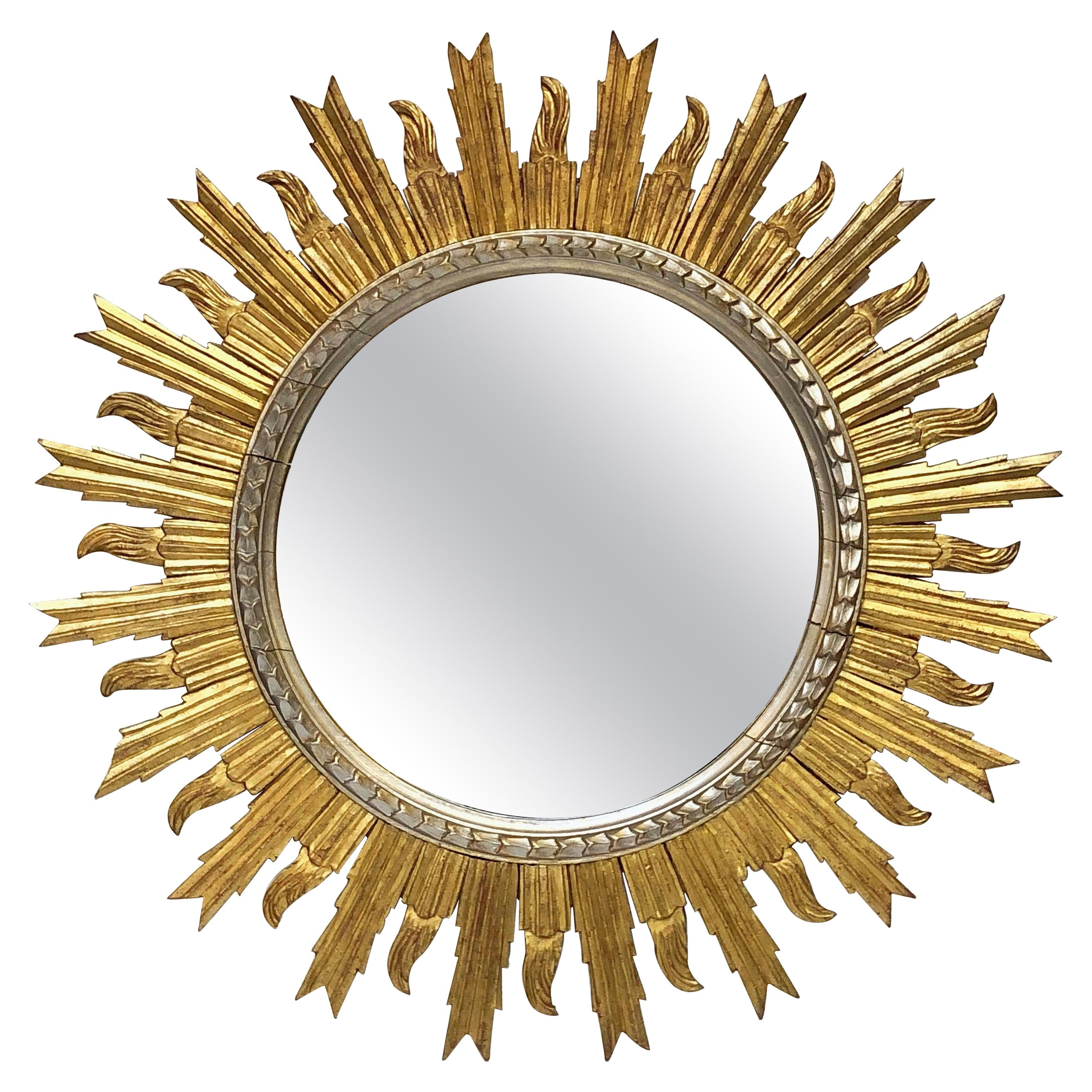 Large Sunburst Wall Mirrors Within Current Antique And Vintage Sunburst Mirrors – 629 For Sale At 1stdibs (View 20 of 20)