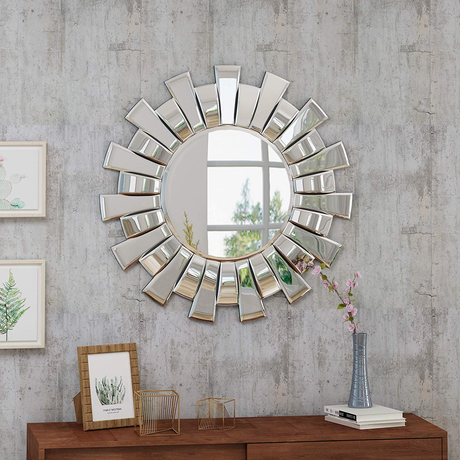 Large Sunburst Wall Mirrors Within Popular Christopher Knight Home Sunburst Wall Mirror, Gold (View 16 of 20)