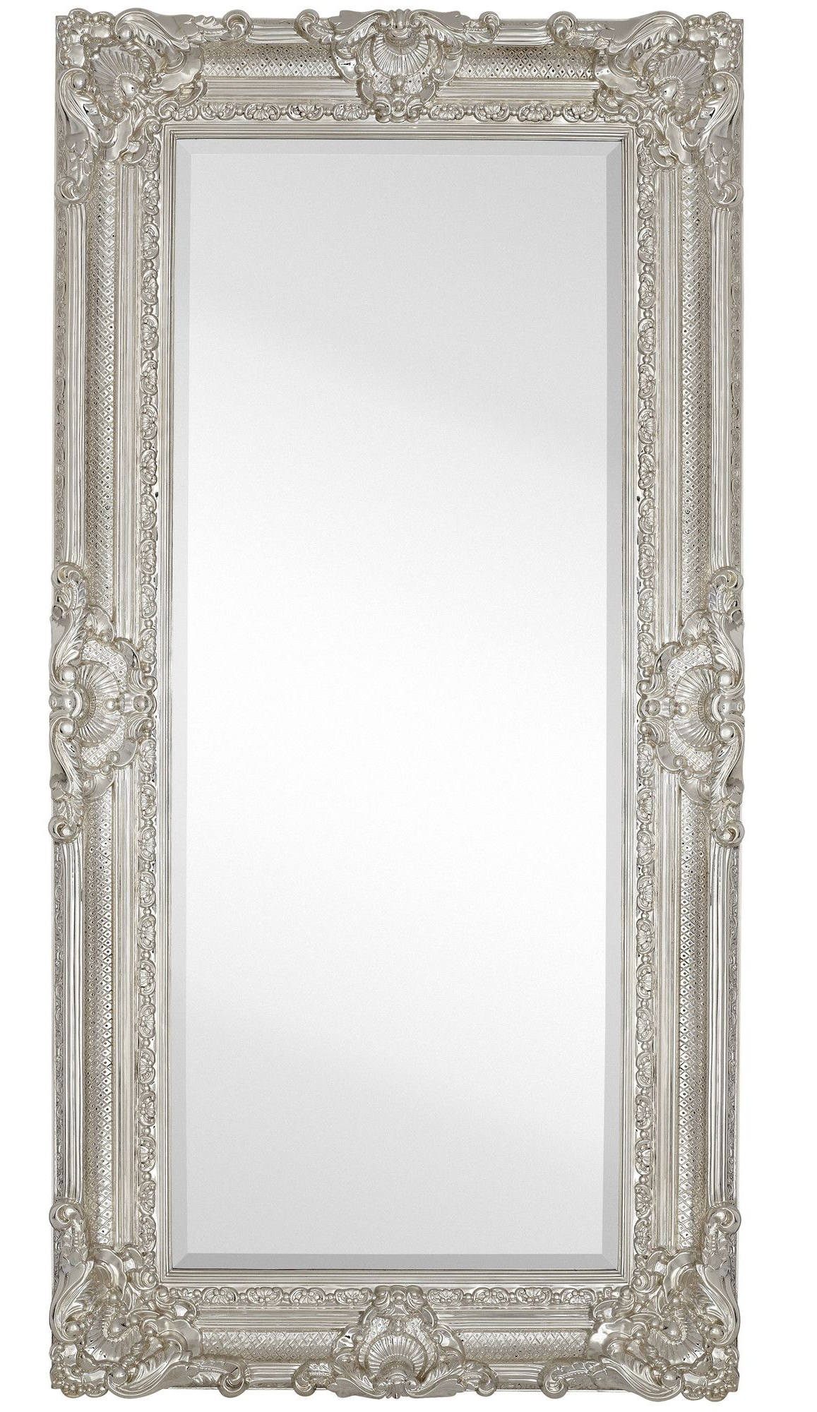 Large Traditional Polished Chrome Rectangular Beveled Glass Framed With Regard To Well Liked Chrome Wall Mirrors (Gallery 8 of 20)