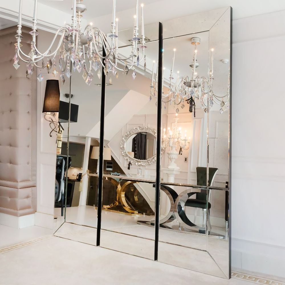 Large Venetian Wall Mirrors Regarding Favorite Large Venetian Style Sectional Mirror In 2019 (Gallery 11 of 20)