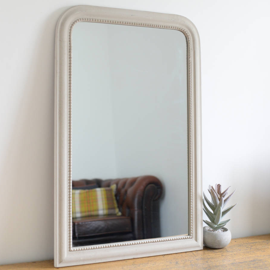 Large Vintage Wall Mirrors Inside Fashionable Vintage Edged Wall Mirror In Stone (View 12 of 20)