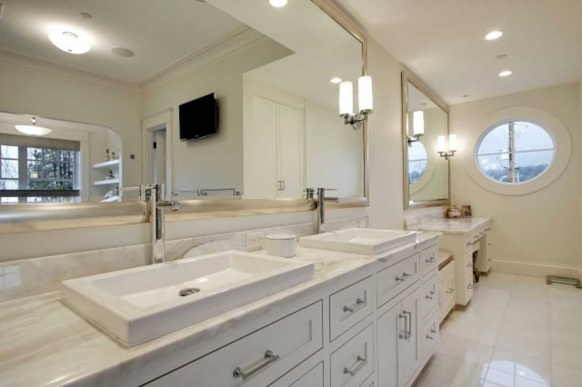 Large Wall Mirrors For Bathroom Throughout Trendy Bathroom: Enchanting Large Framed Bathroom Mirrors (View 8 of 20)