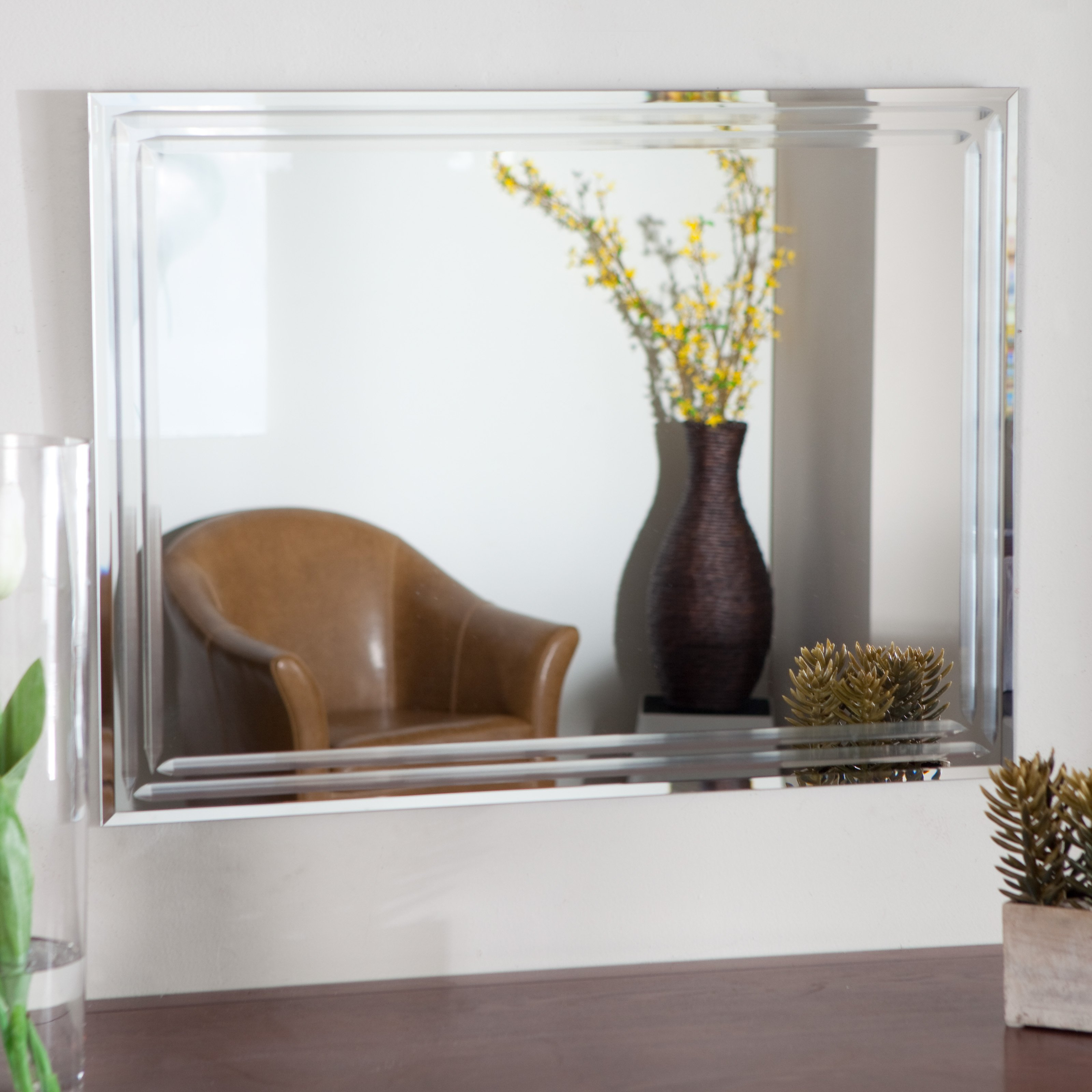 Large Wall Mirrors No Frame – Mirror Ideas Throughout Well Known Large Wall Mirrors Without Frame (Gallery 7 of 20)