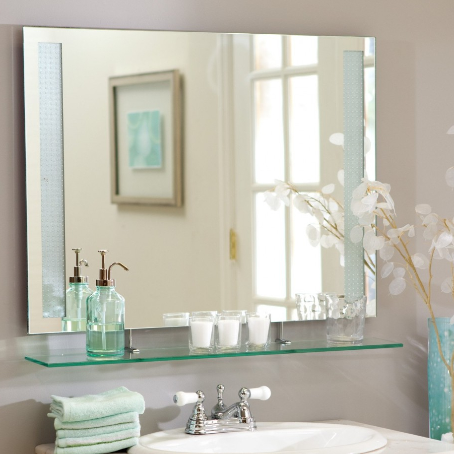 Large Wall Mirrors Without Frame Pertaining To Well Liked Top 34 Top Notch Large Mirror Cheap Tall Wall Mirrors Ornate Framed (Gallery 10 of 20)