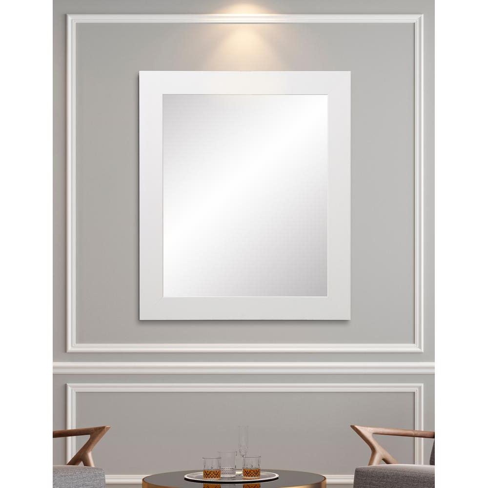 Large White Framed Wall Mirrors Throughout Famous Brandtworks Decor Large 32 In. X 55 In (View 11 of 20)