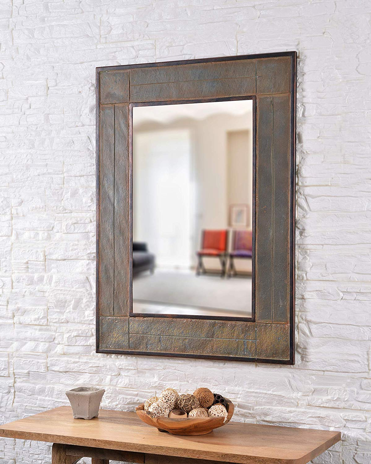 Large White Wall Mirrors With Regard To Well Known Kenroy Home White River Wall Mirror Large Gray (Gallery 9 of 20)