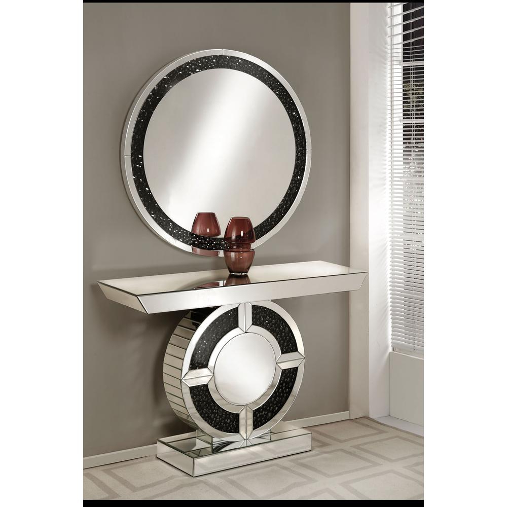 Latest Accent Mirrors Inside Noor Mirrored And Faux Gem Stones Accent Mirror (View 13 of 20)