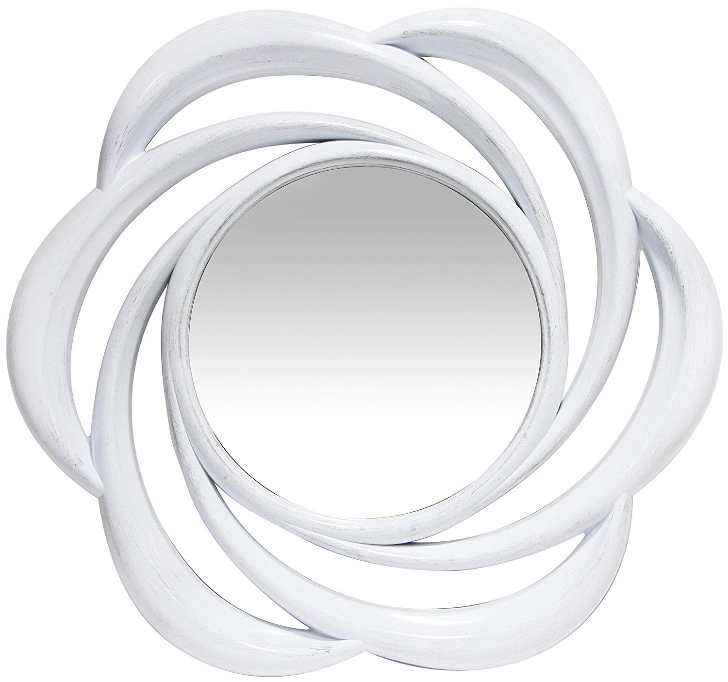 Latest Amazon: Infinity Instruments Whimsical Wall Mirror White Pertaining To Whimsical Wall Mirrors (Gallery 6 of 20)
