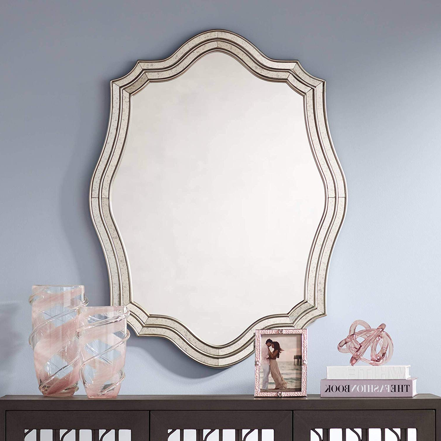 "Latest Amazon: Noble Park Caterina Silver 29""x38"" Layered Within Quatrefoil Wall Mirrors (Gallery 6 of 20)"
