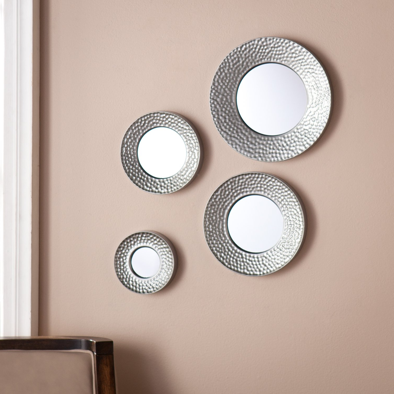 Latest Amazon: Southern Enterprises 4 Piece Sphere Wall Mirror Set In Throughout Wall Mirror Sets Of 4 (Gallery 5 of 20)