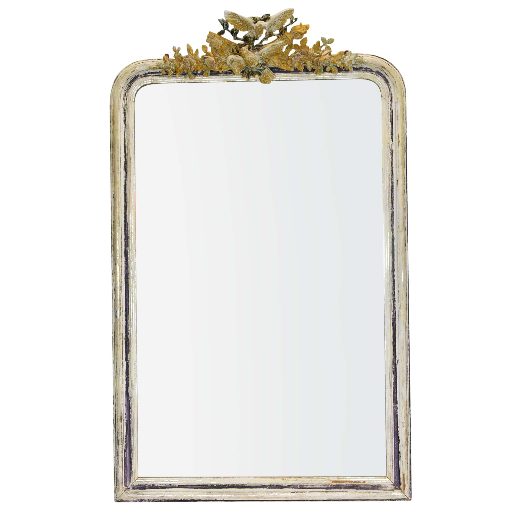 Latest Antique 19Th Century Wall Mirror With Decorative Bird Detail For Bird Wall Mirrors (Gallery 20 of 20)