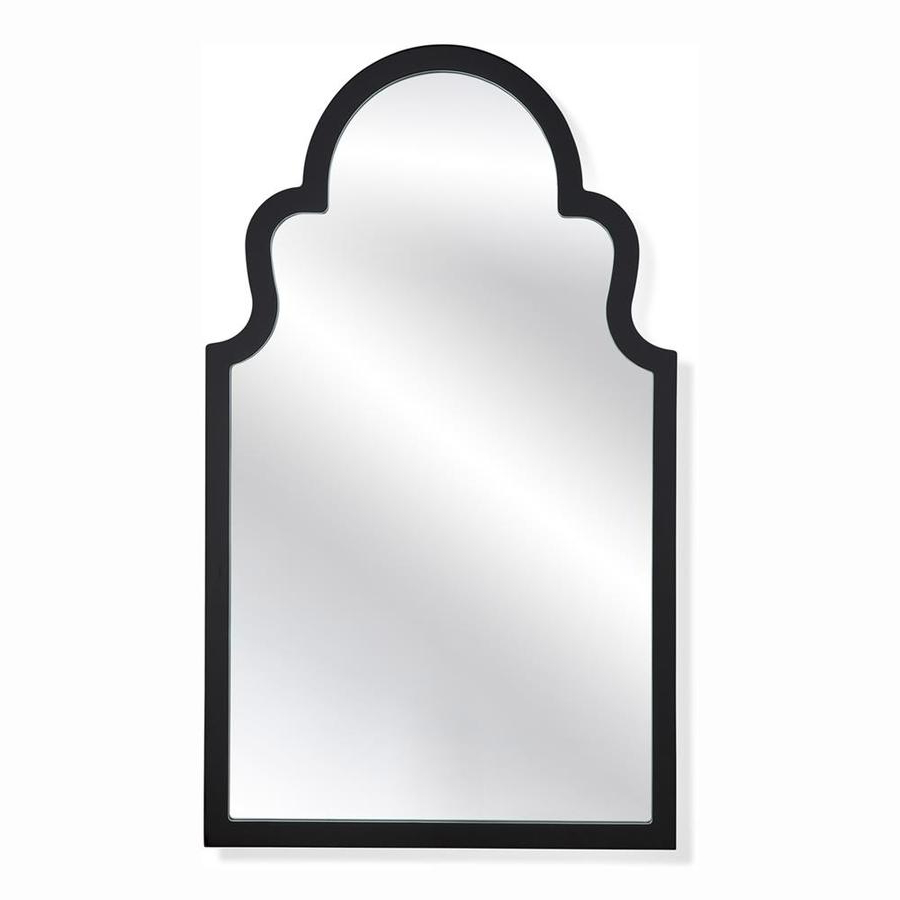 Latest Bassett Mirror Company Thoroughly Modern 40 In L X 24 In W Black Throughout Bassett Wall Mirrors (Gallery 11 of 20)