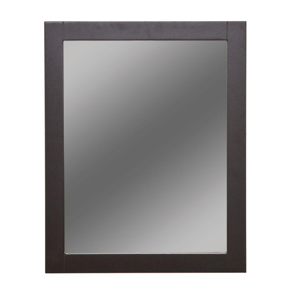 Latest Beaded Accent Wall Mirrors Within Glacier Bay Del Mar 24 In. X 30 In. Framed Wall Mirror In Espresso (Gallery 9 of 20)