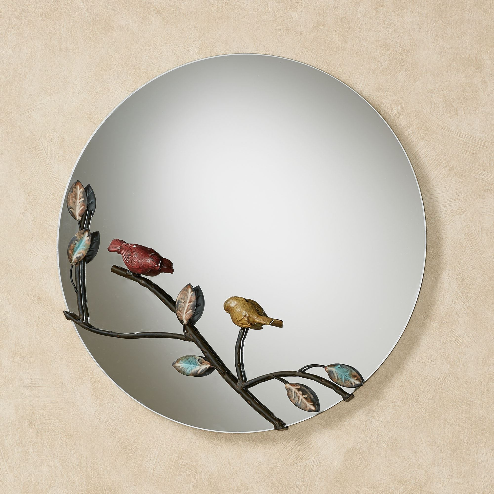 Latest Bird Wall Mirrors Within Nature Inspired Birds Round Wall Mirror (Gallery 4 of 20)