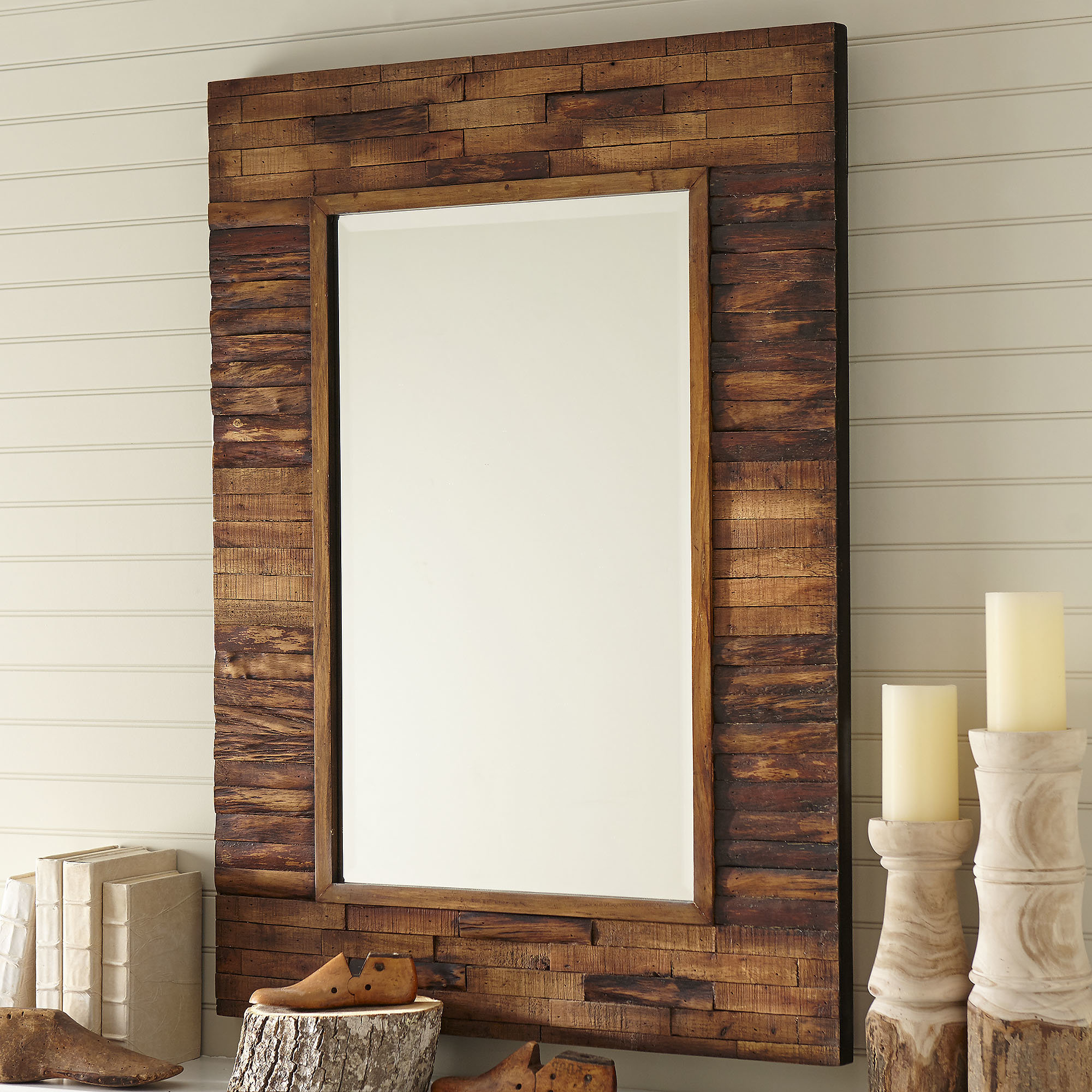 Latest Booth Reclaimed Wall Mirror Accent Pertaining To Wood Wall Mirrors (Gallery 18 of 20)