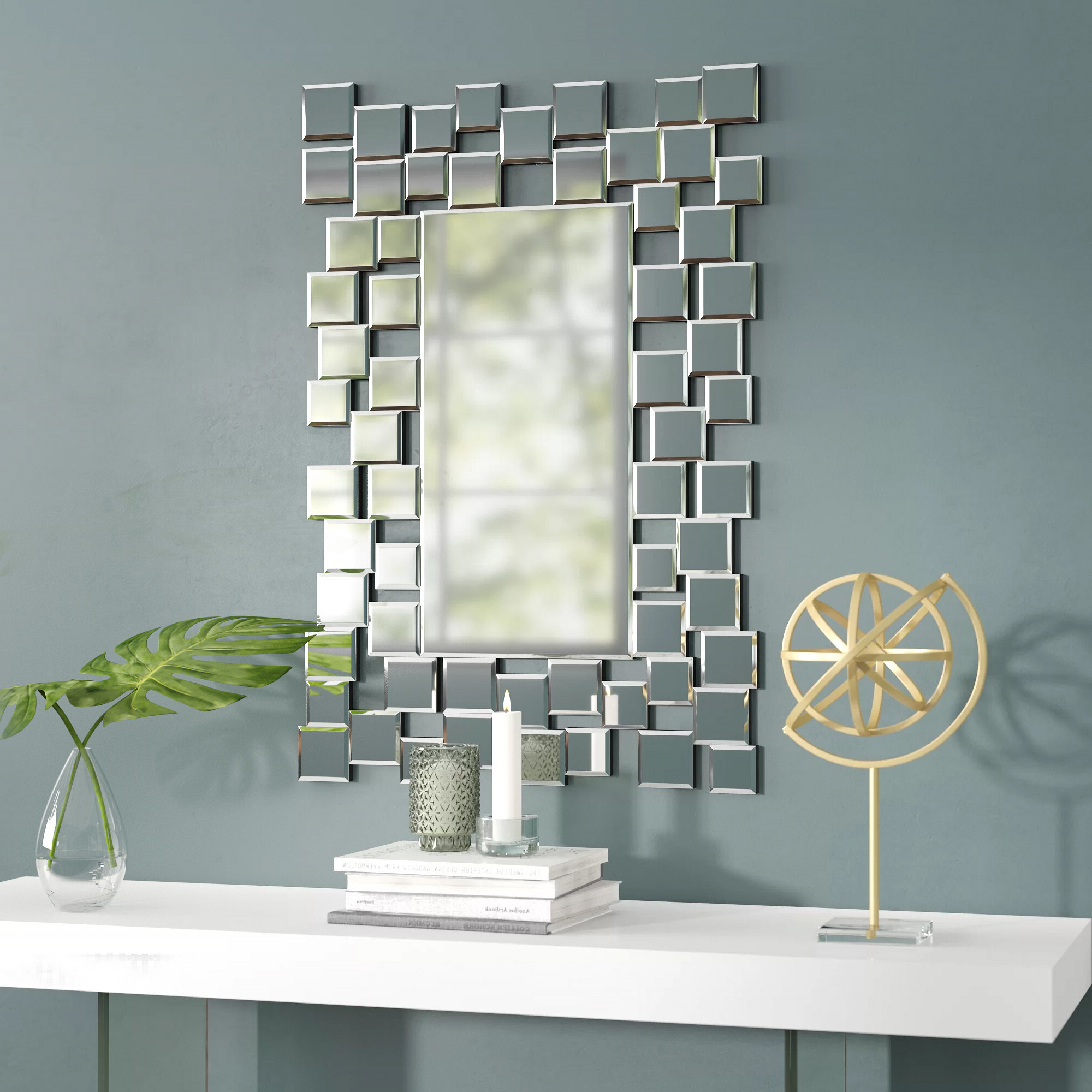 Latest Brayden Studio Modern & Contemporary Accent Wall Mirror With Dekalb Modern & Contemporary Distressed Accent Mirrors (View 10 of 20)