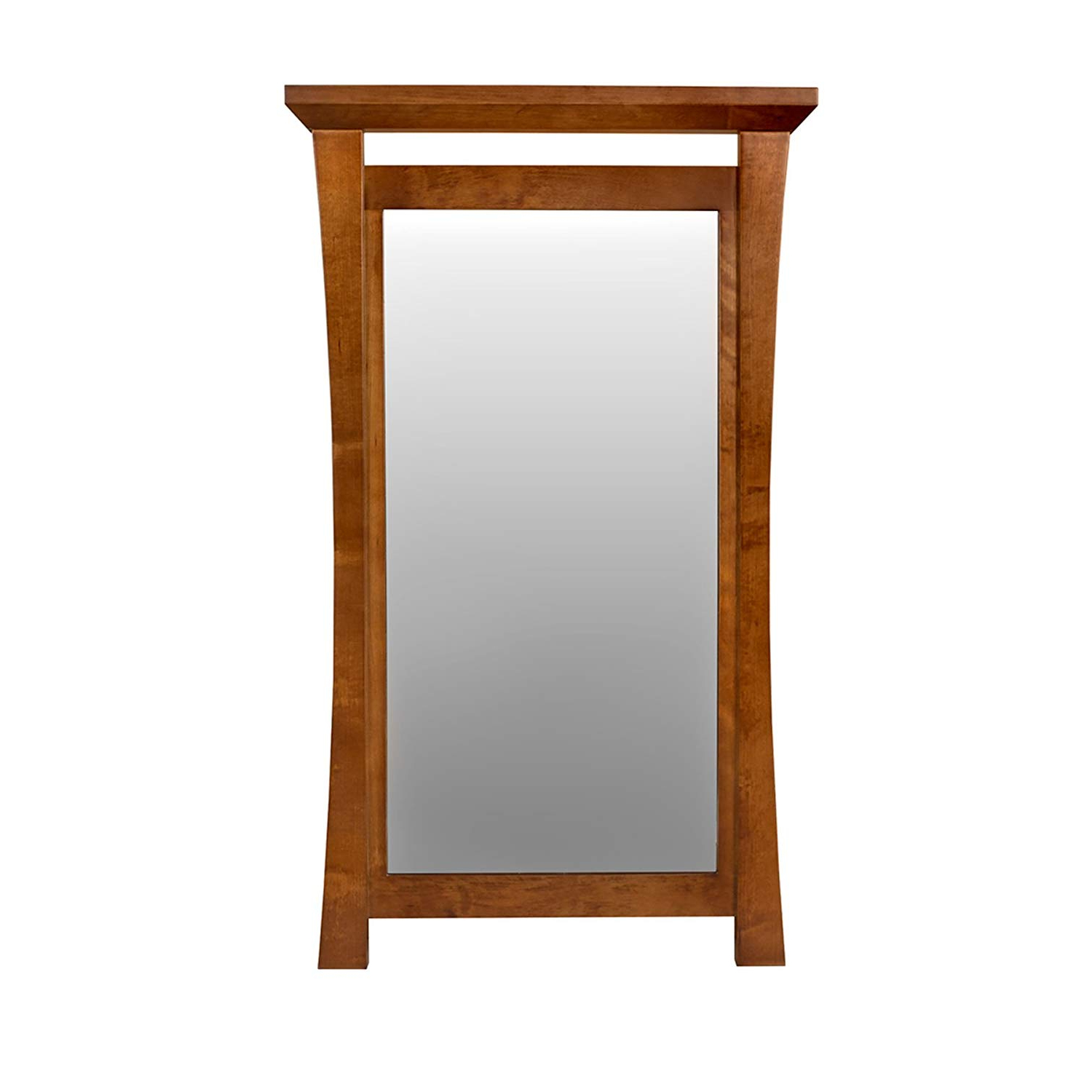 "Latest Cherry Wood Framed Wall Mirrors Pertaining To Amazon: Maykke Sachi 21"" W X 36"" H Wood Framed Rectangle Wall (Gallery 3 of 20)"