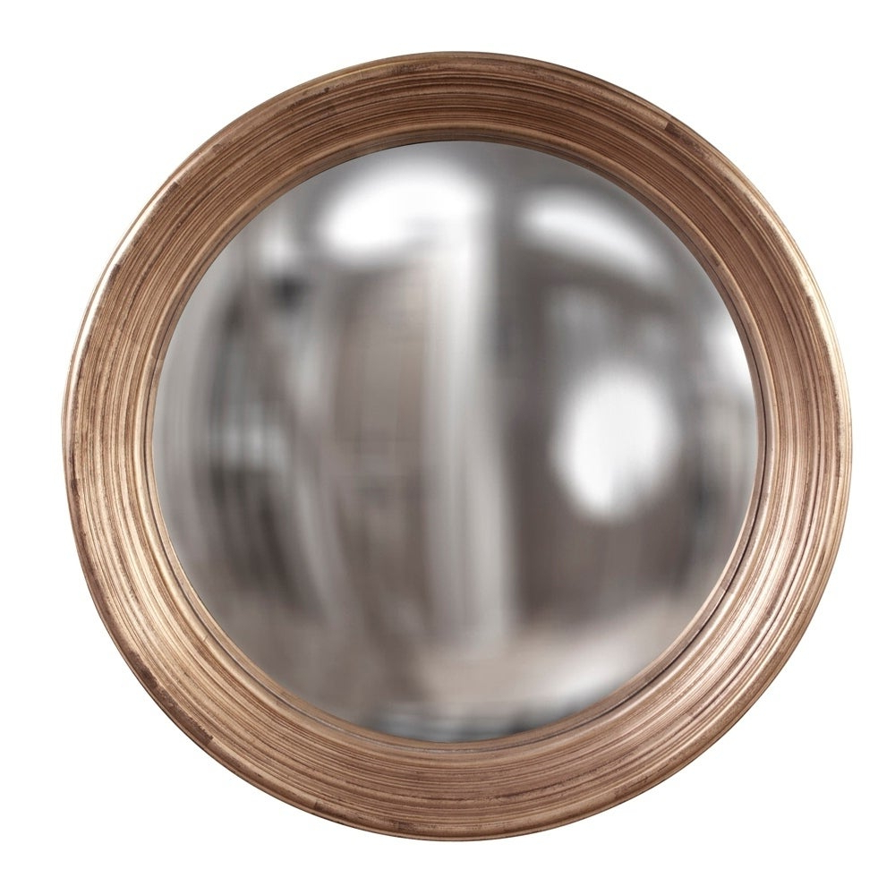 Latest Concave Wall Mirrors Regarding Silas Silver Round Concave Wall Mirror – Large – Copper (View 17 of 20)