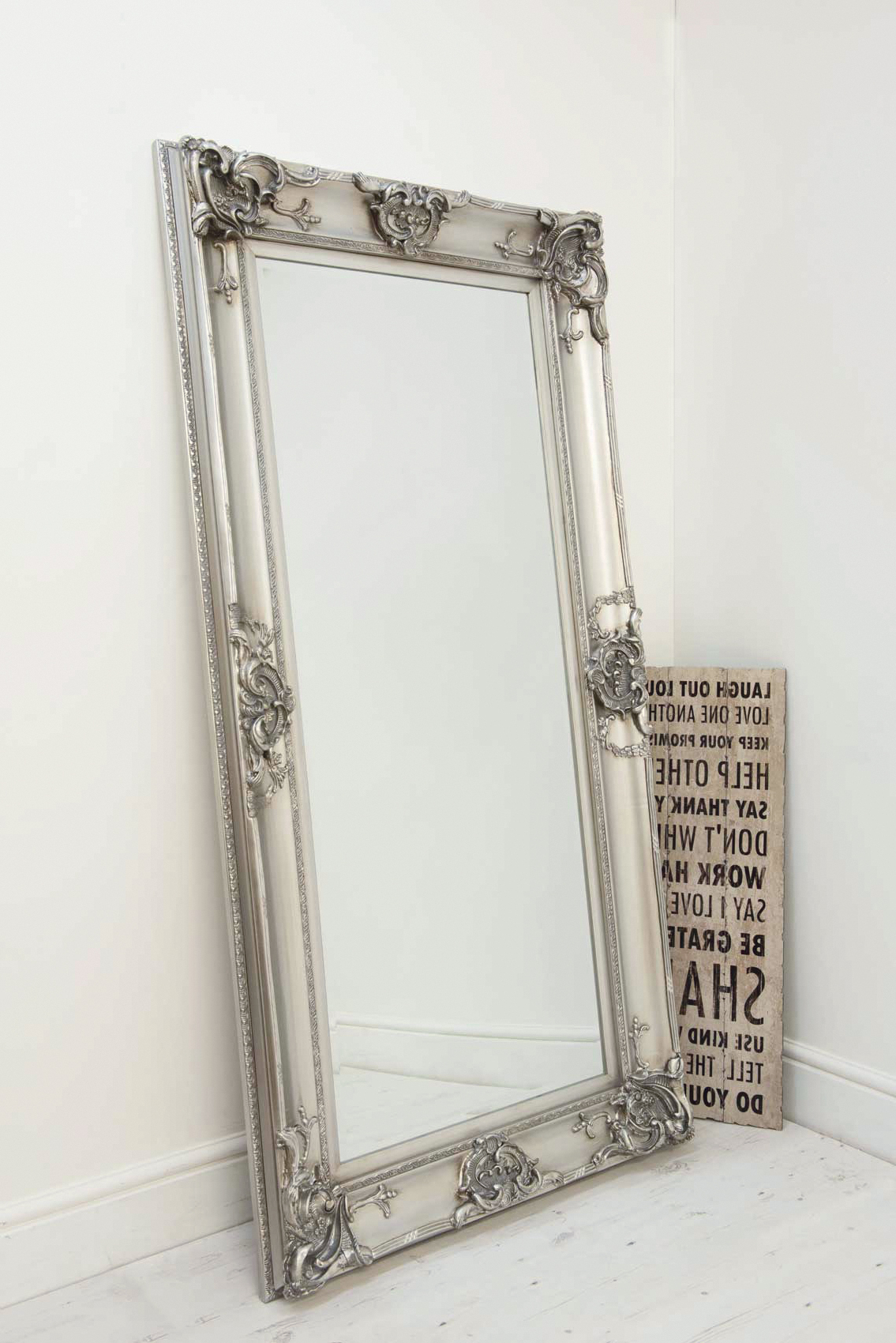 Latest Details About Beautiful Large Silver Decorative Ornate Wall Mirror 6ft X 3ft 183 X 91cm Pertaining To Large Silver Wall Mirrors (View 2 of 20)