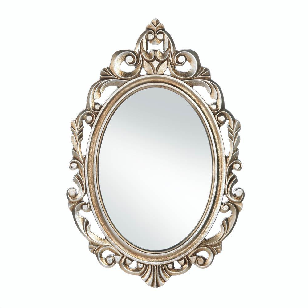 Latest Details About Mirror Wall Art, Framed Oval Small Decorative Wall Mirrors  For Bedroom Inside Ornate Wall Mirrors (View 17 of 20)