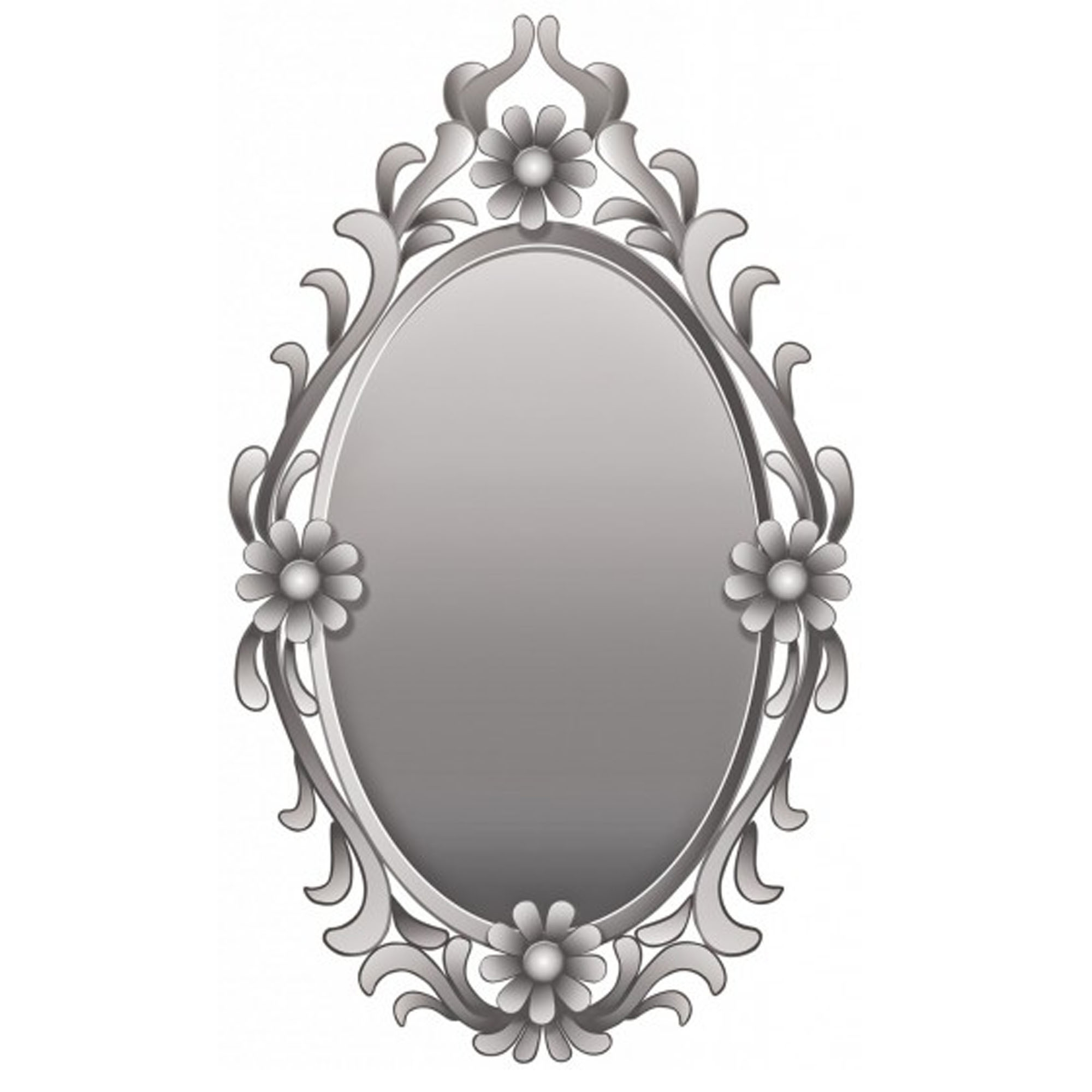 Latest Flowers Oval Wall Mirror Within Oval Wall Mirrors (View 6 of 20)
