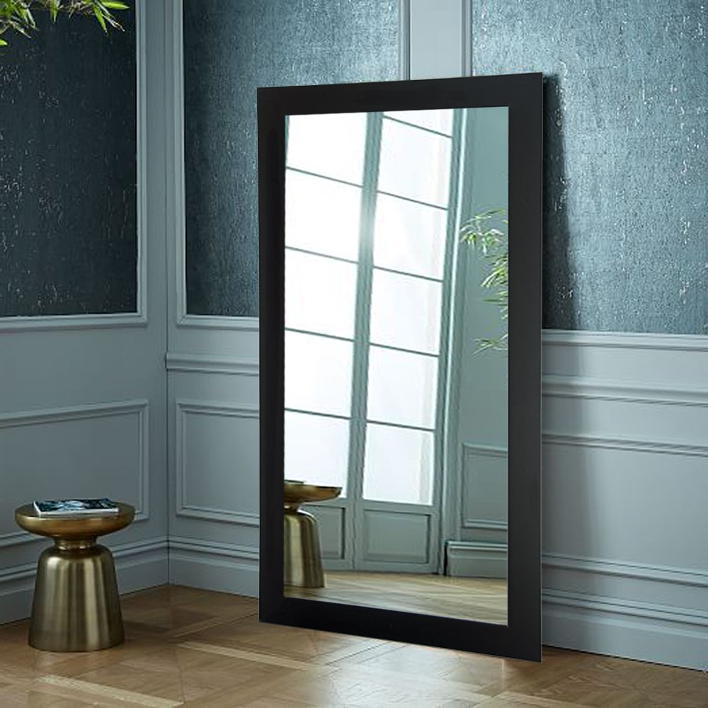 "Latest Giant Wall Mirrors In Brandtworks, Llc Bm002T Oversized Wall Mirror, 32"" X 71"", Matte Black,32"" X 71"" (Gallery 15 of 20)"