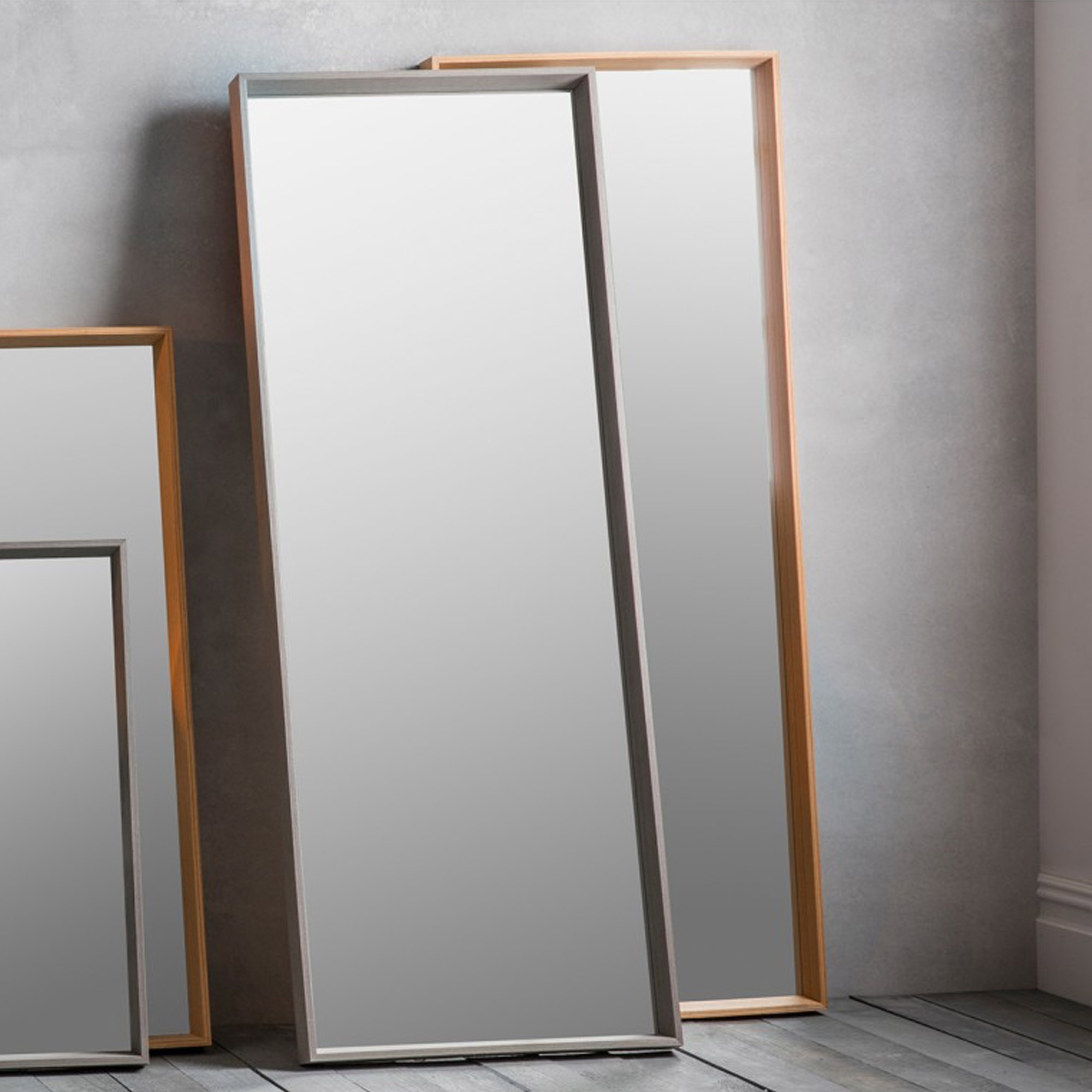 Latest Gray Wall Mirrors Regarding Long Grey Comet Wall Mirror (View 8 of 20)
