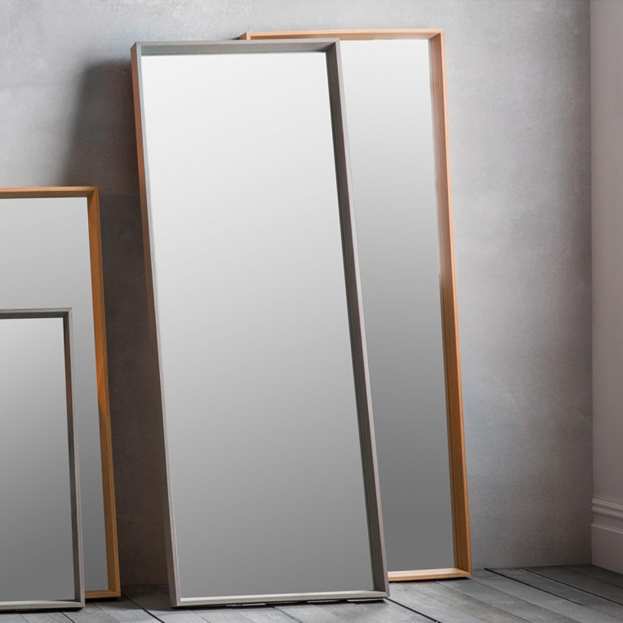 Latest Gray Wall Mirrors Regarding Long Grey Comet Wall Mirror (Gallery 8 of 20)