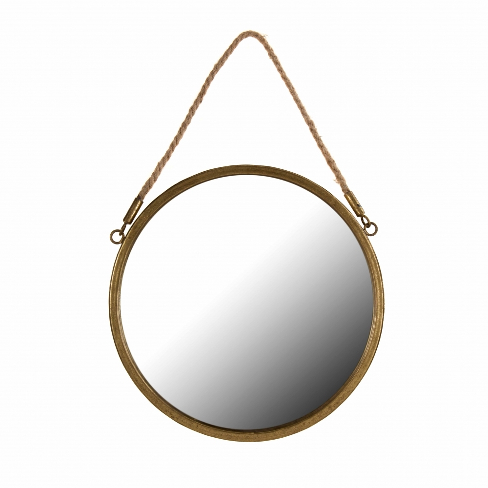 Latest Hang Wall Mirrors For Gold Round Hanging Wall Mirror (Gallery 20 of 20)