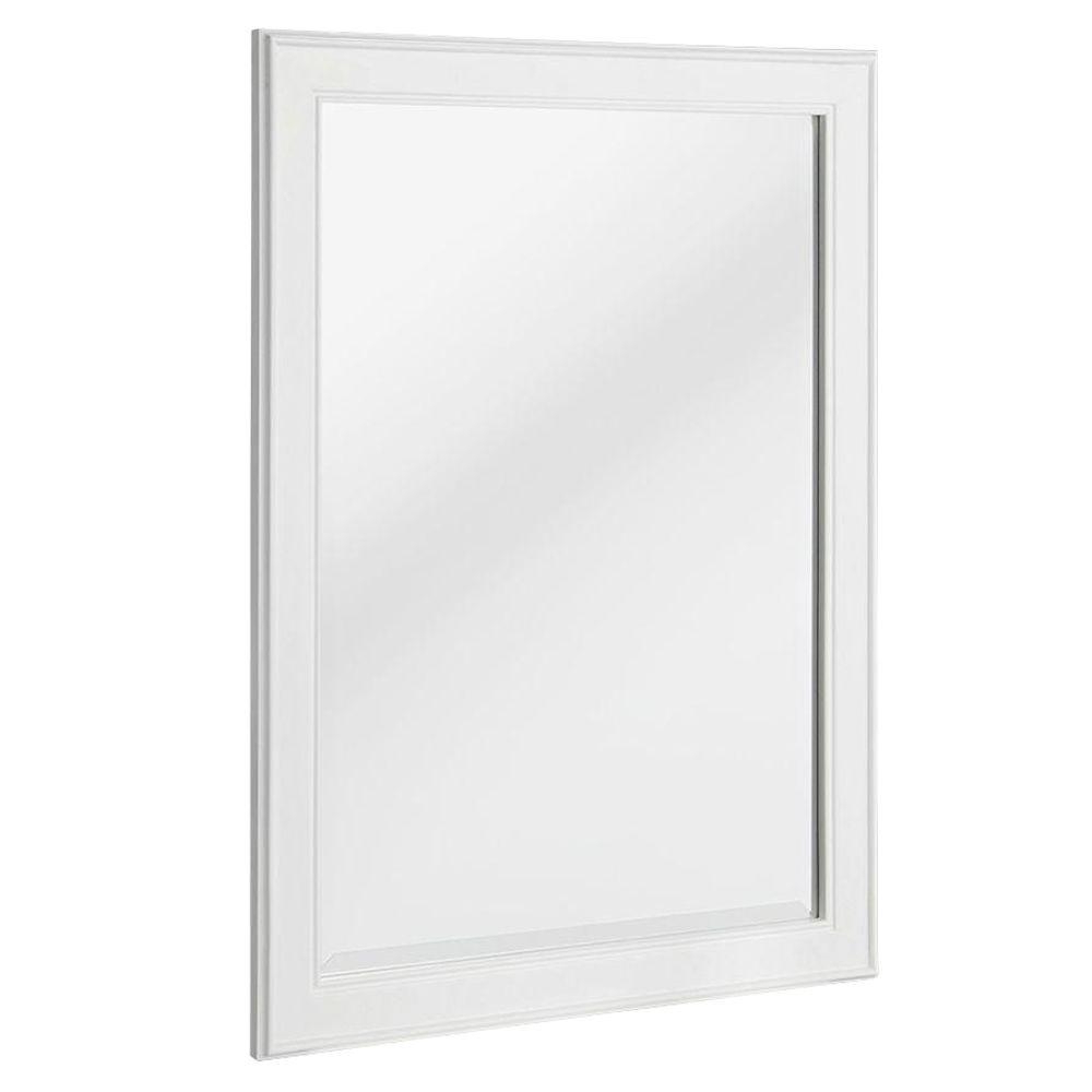 Latest Large Wall Mirrors For Bathroom Throughout Home Decorators Collection Gazette 24 In. X 32 In. Framed Wall Mirror In  White (Gallery 12 of 20)