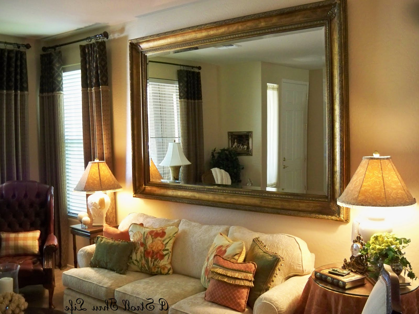 Latest Living Room Design: Big Decorative Wall Mirrors Design, Wall Inside Cheap Big Wall Mirrors (Gallery 19 of 20)