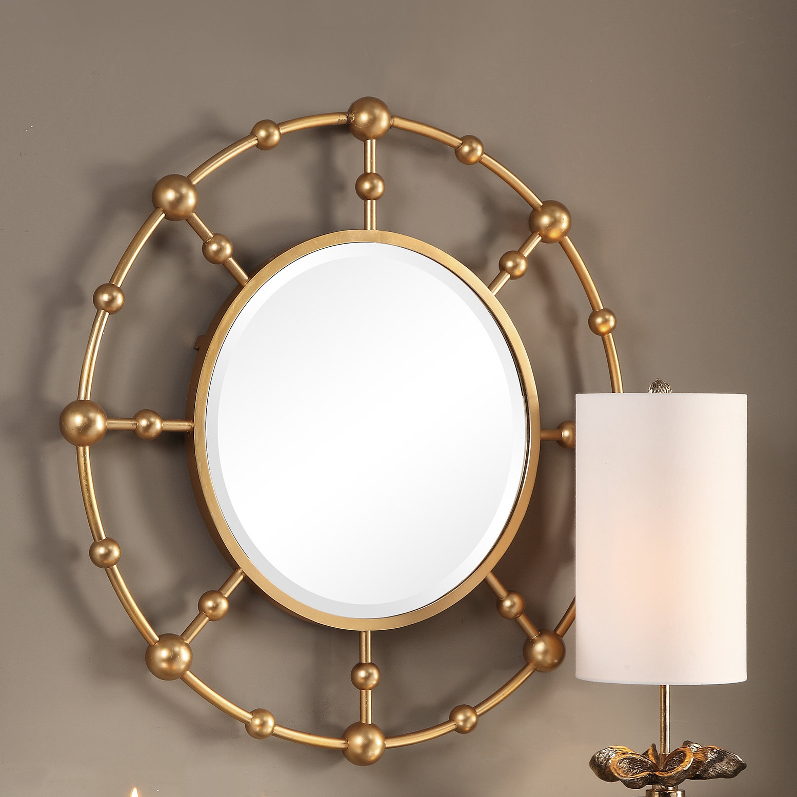 Latest Matthias Round Accent Mirrors With Regard To Burrell Round Accent Mirror (View 4 of 20)
