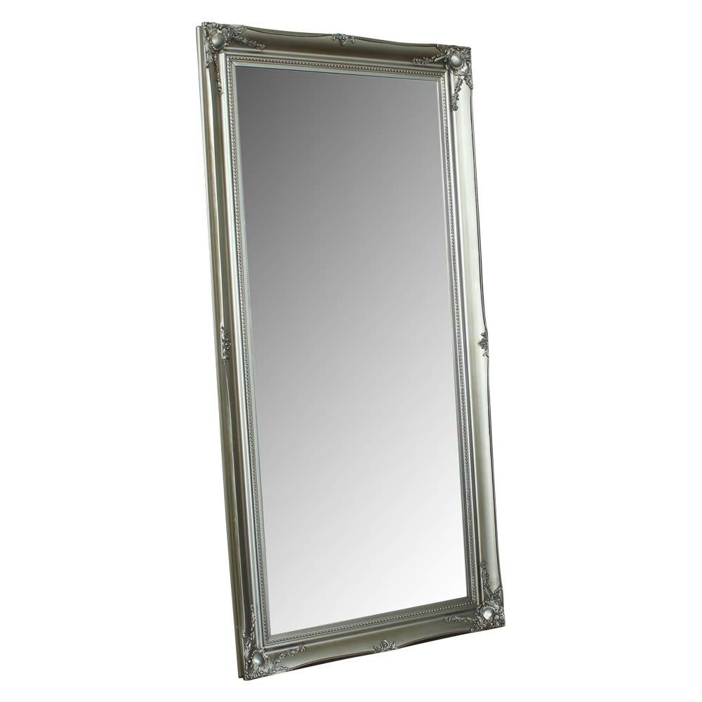Latest Melody Maison Large Silver Ornate Wall/floor Mirror 158Cm X 78Cm In Ornate Full Length Wall Mirrors (View 7 of 20)