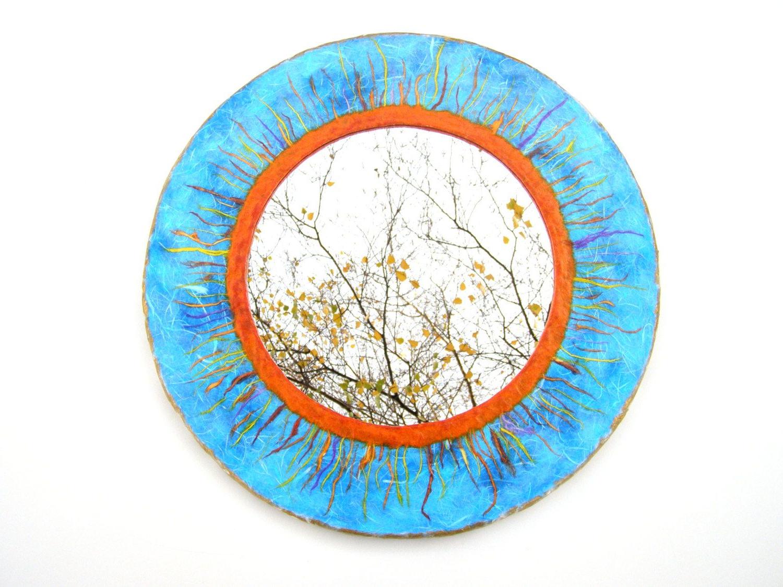 Latest Orange Framed Wall Mirrors With Regard To Blue Sun Mirror,decorative Wall Mirror,orange Sunburst Mirror Blue (View 18 of 20)